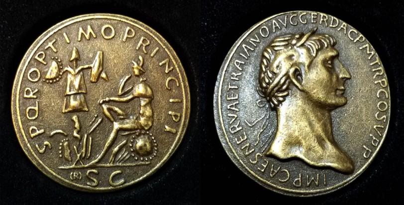 Monete Antiche 01 Sesterzio Traiano D